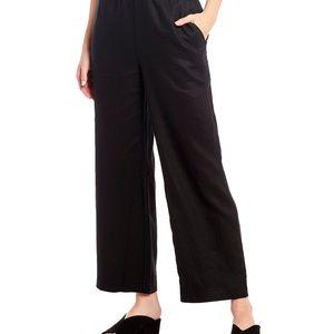 Eileen Fisher Organic Cotton & Linen Black Pants